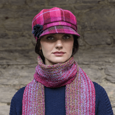 Mucros Weavers Newsboy Hat for Ladies Pink Color