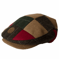 Patrick Francis Muti Tweed Patch Flat Cap