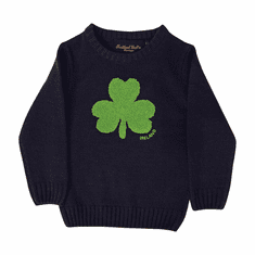 Navy Irish Shamrock Kids Jumper