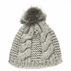 Natural Knit Bobble Ladies Hat
