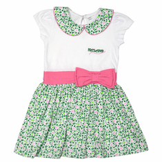 Pink Bow Irish Design Kids Dress