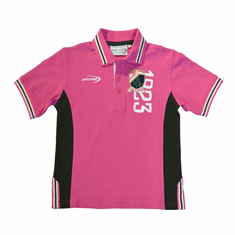 Pink/Green Shamrock Kids Polo