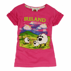 Pink Irish Sheep Kids T-Shirt