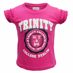 Kids Pink Trinity Crest Top