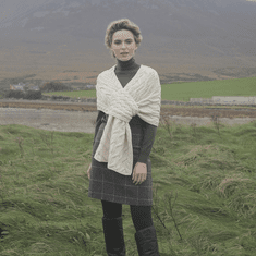 Pull Through Cable Knit Shawl