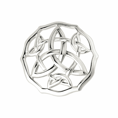 Rhodium Trinity Brooch