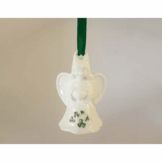 Royal Tara Shamrock Christmas Decoration Angel with Shamrocks