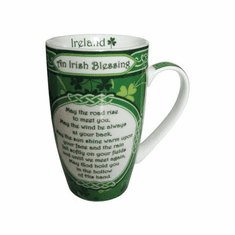 Royal Tara Shamrock Garden Irish Blessing Mug