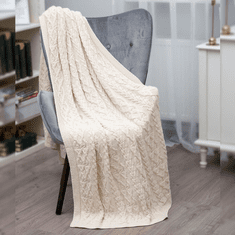 SAOL Braided Cable Knit Throw