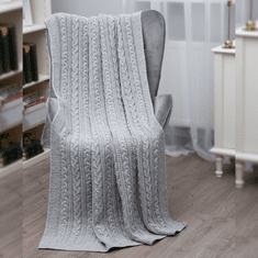 SAOL Cable Knit Pattern Throw
