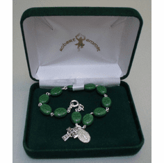 Shamrock Bracelet Sterling Silver with Cross