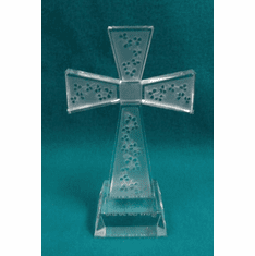 Shamrock Glass Cross
