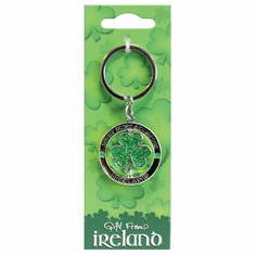Shamrock Green Spinner Keyring