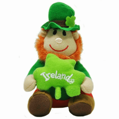 Shamrock Pals Soft Doll Leprechaun with Shamrock