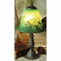 Shamrock Reverse Hand Painted Lamp 15""