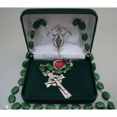 Shamrock Rosary Sterling Silver