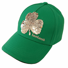 Shamrock Sequin Kids Baseball Cap