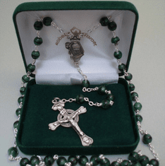 Shamrock St. Patrick Center Rosary Sterling Silver