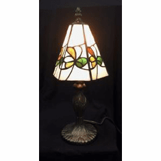Shamrock Variegated Glass Lamp