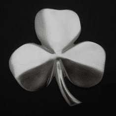 Shamrock Wall Hanging Satin Nickel Silver