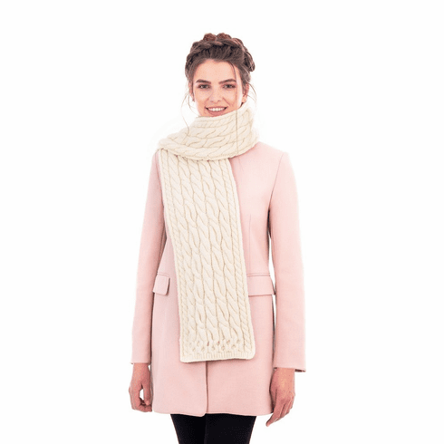 SuperSoft Merino Cable Scarf
