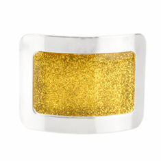 Sparkle Square Buckles with a Gold Sparkly Center