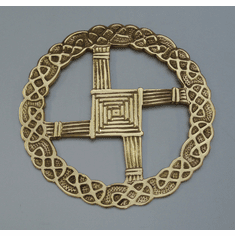 St. Bridget Brass Cross Wall Hanging