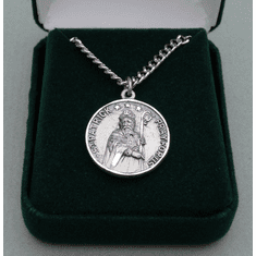 "St. Patrick / St. Bridget ""Pray For Us"" Sterling Silver Medal"