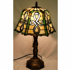 Stained Glass Celtic Top Pleated Lamp 20""