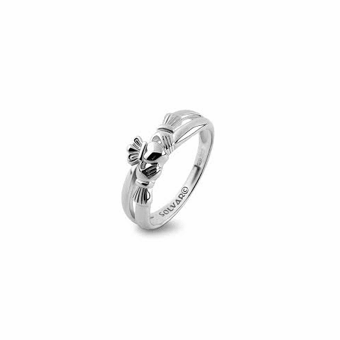 Sterling Silver Celtic Weave Claddagh Ring