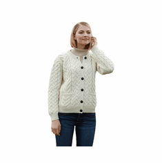 Supersoft Aran Wool Lumber Jacket Cardigan Sweater