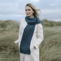 SuperSoft Merino Wool Aran Cable Scarf