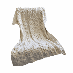 SuperSoft Merino Wool Knit Throw Patchwork