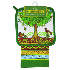 The Celtic Tree of Life Tea Towel and Pot Holder