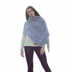 Timeless Irish Wool Knit Celtic Shawl