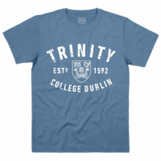 Trinity College Trinity Crest T-Shirt Light Blue