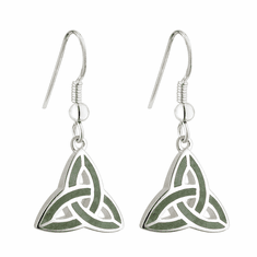 Trinity Knot Marble Detail Earrings