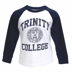 Trinity Long Sleeve Shirt White & Navy Kids