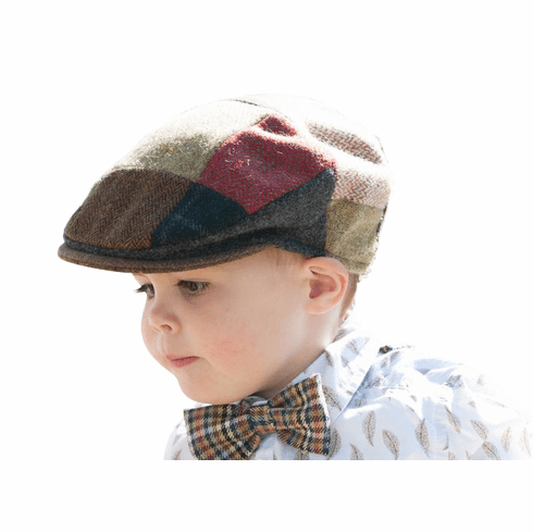 Vintage Tweed Childrens Patch Cap