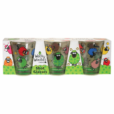 Wacky Woolie 3 Pack Shot Glass