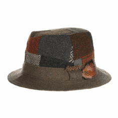 Hanna Hats Walking Hat — Patchwork Tweed