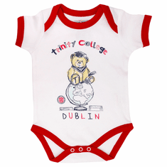 White/Red Trinity College Bear Vest