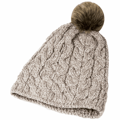 Ladies Wool Knit Hat with Pom Pom