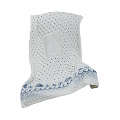 Wool Knit Sailing Boat Throw