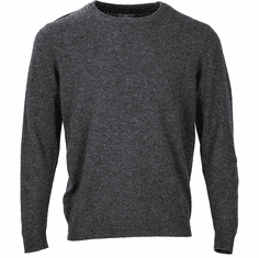 Woven Crew Neck Sweater with Elbow Patches