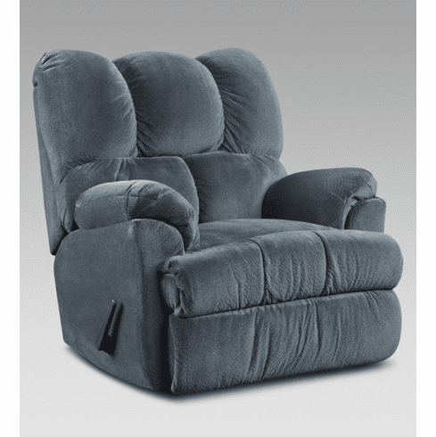 2 Aurora Blue Rocker Recliners by Affordable