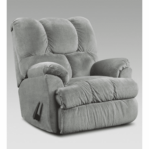 2 Aurora Grey Rocker Recliners by Afforable
