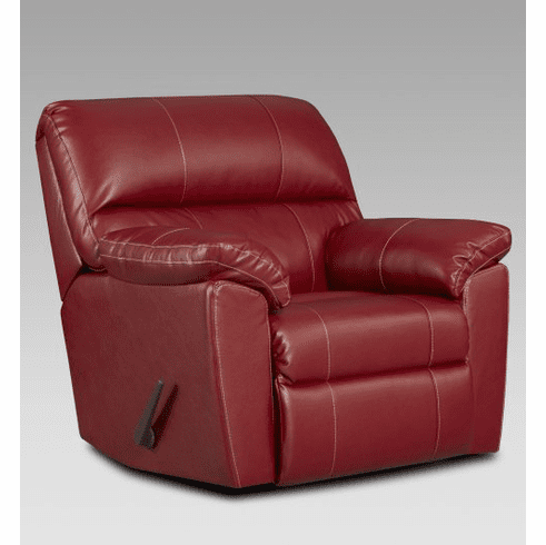 2 Austin Red Rocker Recliners by Affordable
