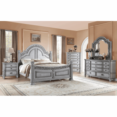 Camelia Maison 7 Piece Tuscano Washed Finish Queen Bedroom