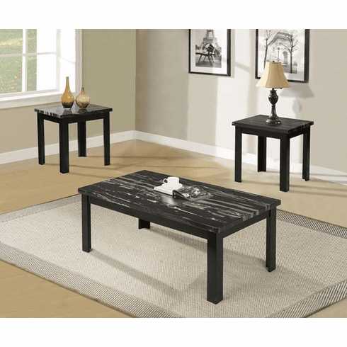Acme Blythe Black 3 Piece<br>Table Set